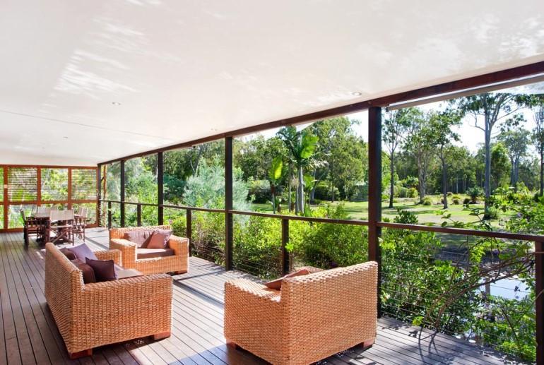 Pavilion, Lake Weyba Cottages, Sunshine Coast